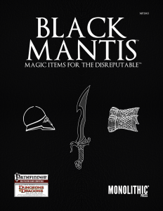 Cover for Black Mantis