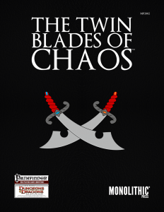 Cover for the Twin Blades of Chaos